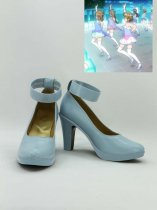 Love Live! 2 Blue Female Hight Heel Cosplay Shoes
