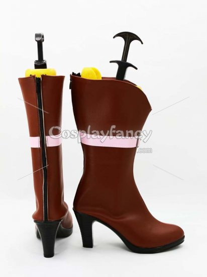 One Piece Cosplay Cavendish Hight Heel Cosplay Boots - Click Image to Close
