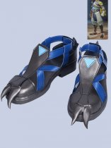 Overwatch Shimada Hanzo Blue Video Game Cosplay Boots