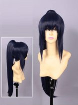 Neppu Kairiku Bushi Road Ame Blue Long Cosplay Wig
