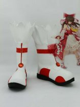 Touhou Project Cosplay Hakurei Reimu Anime Cosplay Boots