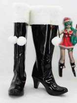 Vocaloid Hatsune Miku Christmas Black & White Cosplay Boots