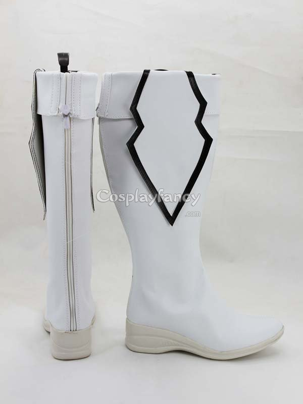 Vocaloid White Rock Shooter White TV Cosplay Boots