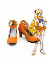 Minako Aino Cosplay Shoes Sailor Moon Sailor Venus Orange Cosplay Boots