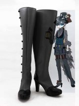 Black Butler Ciel Phantomhive Black & Gray Devil Cosplay Boots
