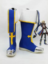 BlazBlue Coplay Jin Kisaragi Blue Military Cosplay Boots