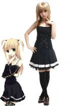 Death Note Cosplay Misa Amane Black Cosplay Costume