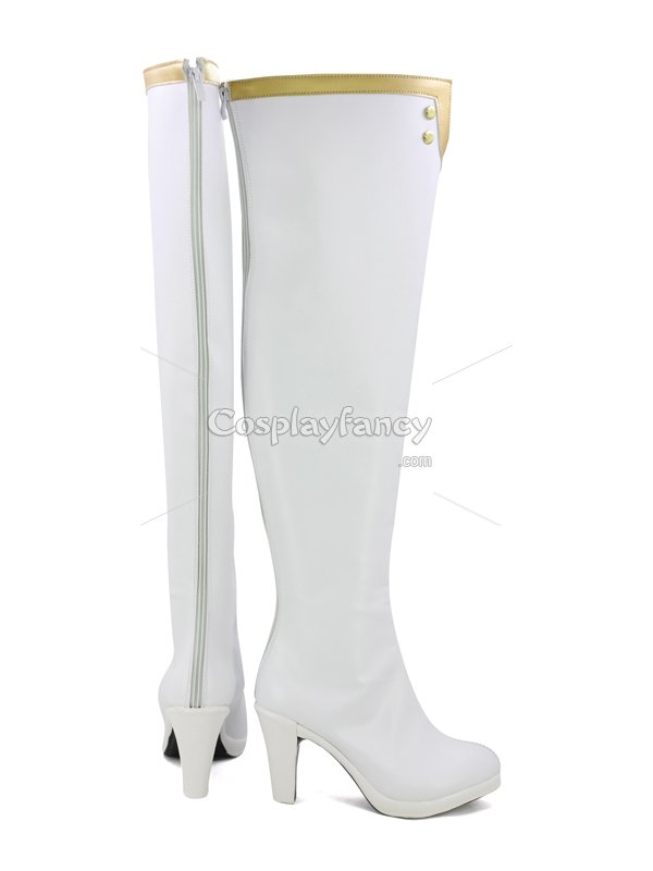 Fate/EXTELLA LINK Scathach Female White Cosplay Boots
