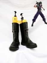 Final Fantasy VII Cosplay Shoes Zacks's Black Boots