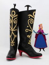 Frozen Princess Anna of Arendelle Hight Heel Cosplay Boots