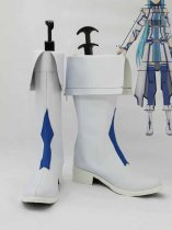 Sword Art Online Yuuki Asuna White & Blue Cosplay Boots