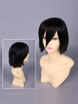 Togainu No Chi Shiki Black Short Cosplay Wig