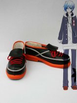 Vocaloid Kaito Orange & Black Cosplay Shoes