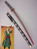 2015 One Piece Cosplay Roronoa Zoro Wood Cosplay Sword Shusui