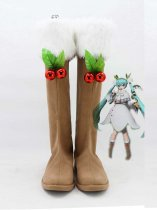 2015 Vocaloid Miku Snow Cosplay Boots