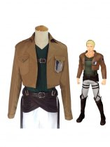 Attack on Titan Reiner Braun Cosplay Costume Scouting Legion Uniform