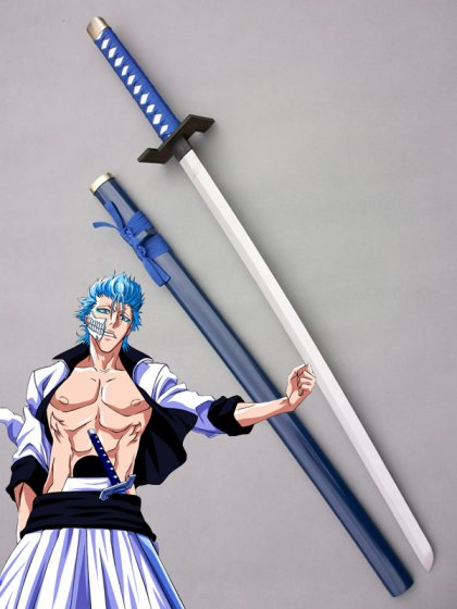 BLEACH Arrancar Grimmjow Wood Cosplay Sword