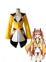 Black Bullet Aihara Enju Yellow & White Cosplay Costume