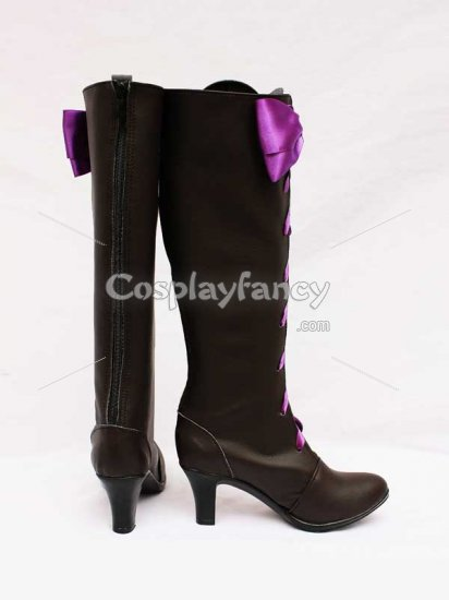 Black Butler II Alois Trancy Pretty Bow Cosplay Boots - Click Image to Close