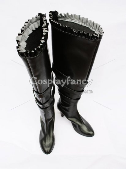 Chobits Cosplay Freya Black Artificial Leather Cosplay Boots - Click Image to Close