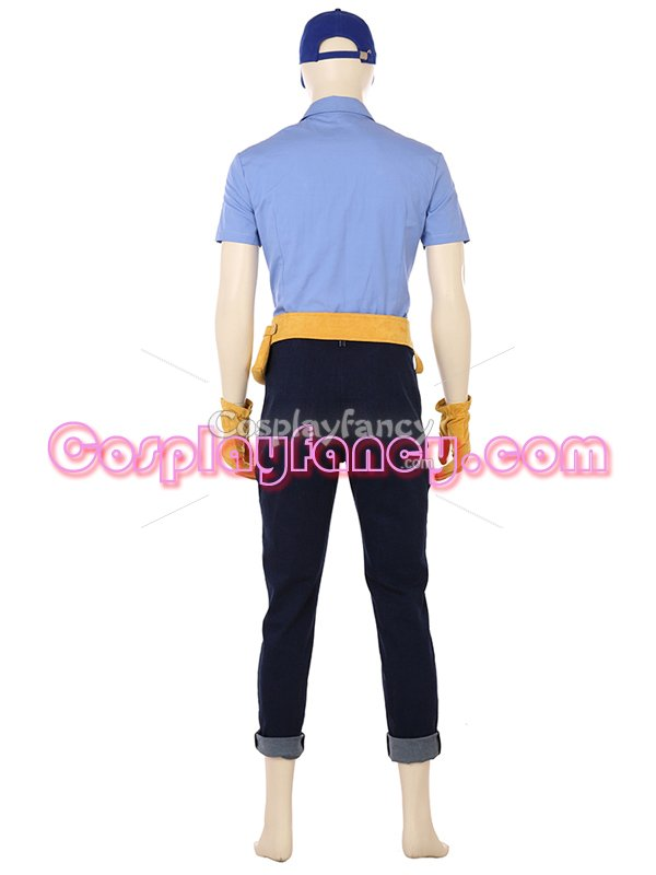 Movie Wreck-It Ralph 2 Felix Uniform Cosplay Costume