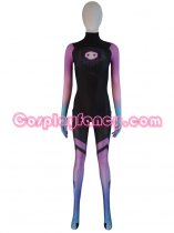 Overwatch Undersuit Girl Sombra Cosplay Costume