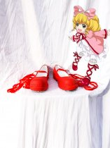 Rozen Maiden Cosplay Hinaichigo/Kleine Beere Red Cosplay Shoes
