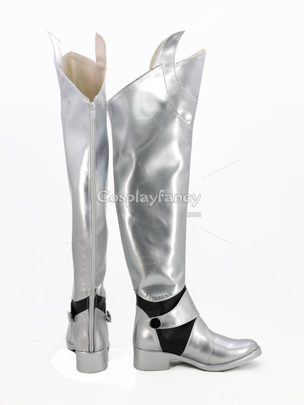 Saber Cosplay Boots Fate Stay Night Silver Anime Cosplay Shoes