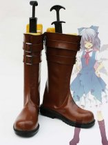 Touhou Project Cosplay Cirno's Artificial Leather Cosplay Boots