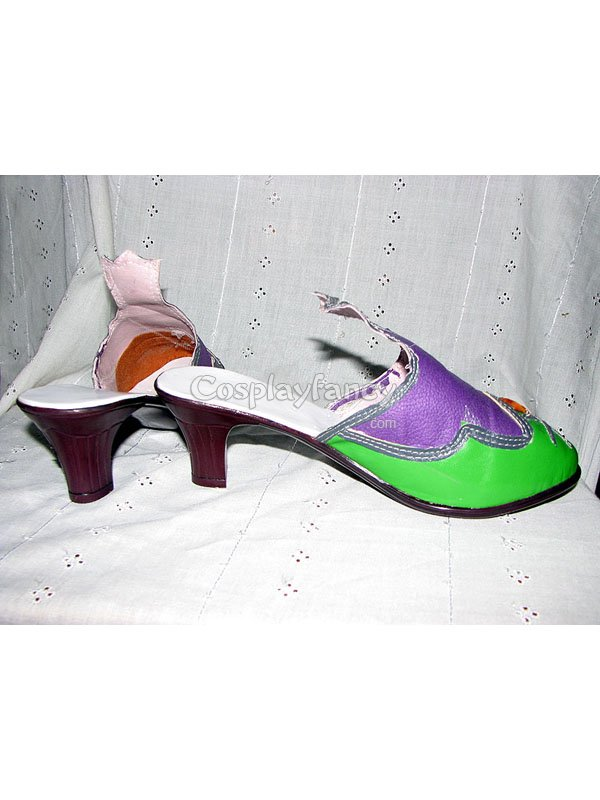 Trinity Blood Green & Purple Cosplay Shoes