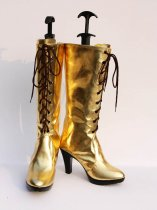 Vocaloid Diva Megurine Luka Gold High Heel Cosplay Boots