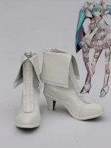 Vocaloid Hatsune Miku White Hight Heel Cosplay Boots