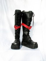 Wonderful Wonder World Alice Black Cosplay Boots