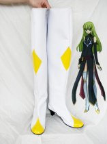 Code Geass White and Yellow Geass Cosplay Shoes/Boots
