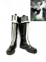 D Gray-Man Allen Walker Black Cosplay Boots With Big Zipper