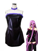 Fate/stay Night Rider Artificial Leather Cosplay Costume