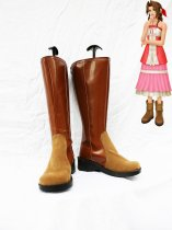 Final Fantasy VII Cosplay Aerith Brown Boots
