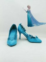 Frozen Elsa the Snow Queen Blue Female Hight Heel Cosplay Shoes