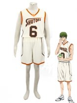 Kuroko no Basketball Shintaro Midorima Shutoku High School basketball team Uniform Cosplay Costume Light Yellow Number 6