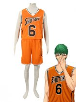 Kuroko no Basketball Shintaro Midorima Shutoku High School basketball team Uniform Cosplay Costume Orange Number 6