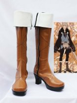 Lamento BEYOND THE VOID Konoe Brown Hight Heel Cosplay Boots