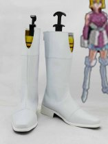 Mobile Suit Gundam SEED Stella Loussier White Cosplay Boots