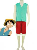 One Piece Cosplay Monkey D Luffy Green Costume