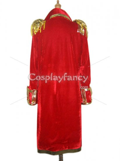 One Piece Cosplay Monkey D Luffy's Red Cosplay Costume - Click Image to Close