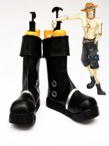 One Piece Portgas D Ace Cosplay Show Boots