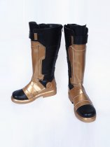 Overwatch SOLDIER:76 Male Verson Black & Gold Cosplay Boots