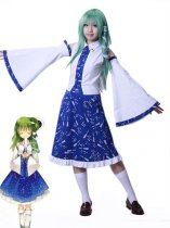 Touhou Project Cosplay Sanae Kochiya Cosplay Costume