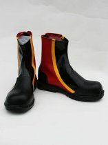 Vocaloid Kaito Red & Black PU Cosplay Boots