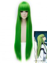 100cm Code Geass C.C Green Cosplay Wig