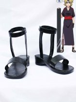 Naruto Cosplay Temari Black Ninja Sandals